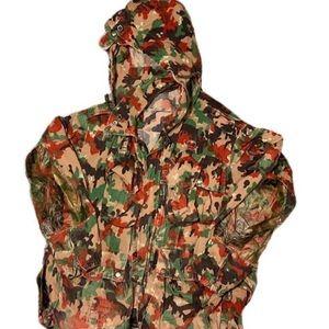 Vintage 1970s Military Camo Jacket